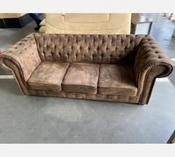 Canapé chesterfield 3places